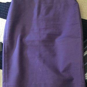 Jcrew purple cotton skirt size 2